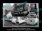 OLD HISTORIC PHOTO OF VANCOUVER CANADA, PNE PARADE, THE 1955 SHELL OIL Co FLOAT