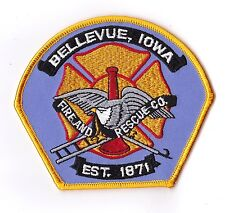 Bellevue Fire and Rescue Iowa Patch NEW !!