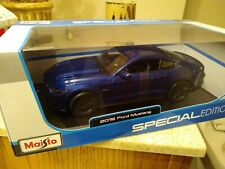 Maisto 1/18 Diecast Metal 2015 Ford Mustang Special Edition Blue