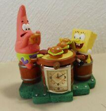2002 Viacom Spongebob Schwammkopf & Patrick Star Uhr Figur