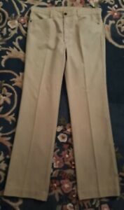 """Vintage Amco Riders beige sand coloured jeans 90 cm's / 35"""" great condition"""