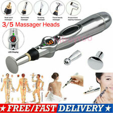 US Laser Acupuncture Meridian Pen with 3/5 Massage Head Energy Therapy Body Care
