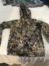 Sitka Mens Open Country Hunting Jetstream Goretex Hooded Jacket Sz Small Digital