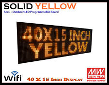 40x15 Inch Yellow Wifi Semi Outdoor Indoor Led Scrolling Sign Super Fast Ship