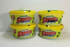 (Pack of 4) Sapolio Dishwashing Lavavajilla Cream Lemon With Collagen