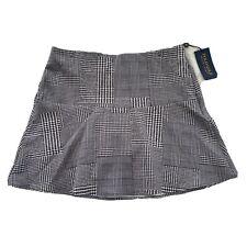 NWT Polo Golf Ralph Lauren Women's Skirt Skort Sz Small Black White Plaid $148