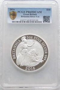 2016 Royal Mint Britannia £10 Ten Pound Silver Proof 5oz Coin PCGS PR69 DCAM