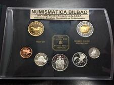 CANADA 1999 PRESTIGE SET 1+5+10+25+50 Cent 1 DOLLAR 2 DOLLAR SILVER-GOLD 7 COINS