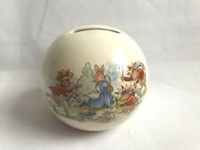 More details for royal doulton bunnykins round moneybox with stopper cowboys and indians pigybank
