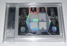 2007-08 UD Black Patch Dual Patch Paul Pierce, Rajon Rondo 01/25! BGS 8.5!