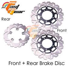 Front Rear SS Brake Disc Rotor Set For Suzuki GSXR 1000 K7 K8 07 08