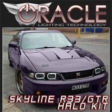 Nissan Skyline R33 GTS GTR White ORACLE LED Headlight Halo Angel Eyes Kit JDM