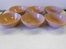 Vtg Set of 6 Frankoma Bowls. #5X. Color is Desert Sand. Great Shape!