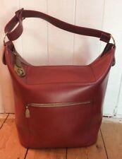 Vintage 1960's Maroon Vinyl Carry On Cabin Flight Overnight Travel Bag
