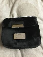 NWT $298.00 Michael Kors Women's Sloan Small Chain Shearling Fur Shoulder Bag