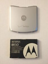 Original Oem: Motorola Razr v3c v3m v3 Silver Verizon Battery & Back Cover Door