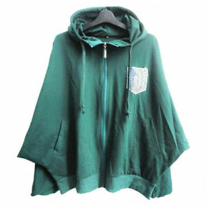 Anime Attack On Titan Cloak Scouting Legion Cosplay Costume Cotton Hooded Coat