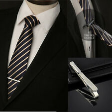 Simple Fashion Silver Mens Necktie Tie Copper Bar Clip Clasp Cufflinks Set Gift