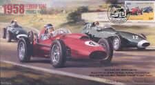 1958d FERRARI D246 & VANWALL VW (57) S, REIMS F1 Copertura firmato Stirling Moss