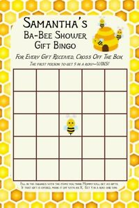 Baby Shower Games and Favor Labels - Bumble Bee Theme