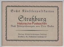(79242+) artistes Classeur avec 6 AK Otto Becker, Strasbourg, Strasbourg, il y a 1945