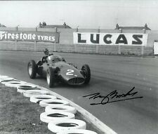 Tony Brooks BRM P25 Aintree 100 race 1956 Signed Photograph
