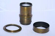 """Vintage Dallmeyer 4D 17"""" (430mm) f7 brass Wet Pate lens. Adjustable Soft Focus."""