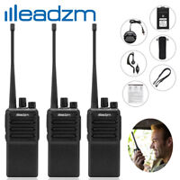 3 X Leadzm LE-C2 Walkie Talkie UHF 400-470MHz Two Way Radio 16 Channel Package