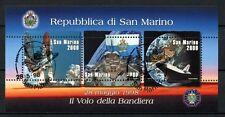 SAN MARINO 1998 SG #MS 1669 Bandiera nello Spazio usato CTO M / S #A 34361