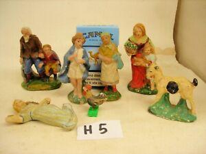 STATUINE PRESEPIO gesso cartapesta terracotta ( H5)