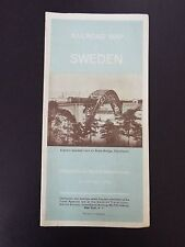 Railroad Map of Sweden 1939