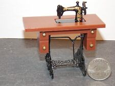 Dollhouse Miniature Sewing Machine Cabinet 1:12 Inch Scale E21 Dollys Gallery