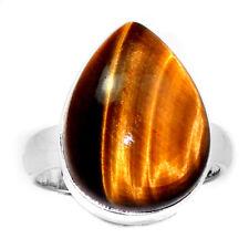 SSS Tiger Eye 925 Silver Ring Jewelry s.6.5 TEYR334