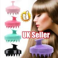 Silicone Shampoo Scalp Shower Body Washing Hair Massage Massager Brush Comb WS