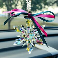 1PCS 2019 New Crystal Colorful Snowflake ornament Charm Pendant  Car Decortion