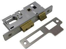 Union Aluminium Door Lock Oval Profile L2214 31mm Back Set 48mm Handle Centres