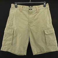 Mens Indigo Palms Tommy Bahama Beige Flat Front Cargo Casual Golf Shorts Size 33