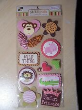 DCWV - NEW - FOILED POP-UPS  - SAFARI KIDS - GIRL