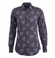DOLCE & GABBANA GOLD Dices Printed Cotton Shirt Grey Gray 04809