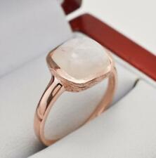 2.50ctw Genuine Flashy Moonstone 14k Rose Gold Sterling Silver Solitaire Ring