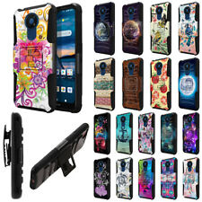 """For Nokia C5 Endi 6.5"""" 2020 Stand Holster Hybrid Hard Rubber Silicone Case Cover"""