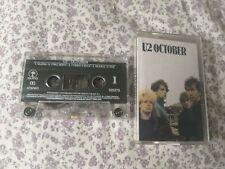 Cassette: U2 - OCTOBER ORIGINAL CASSETTE TAPE 1981  EMI CHILE super rare 1st ed.