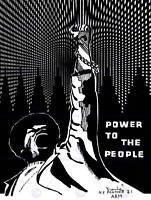 PROPAGANDA POLITICAL BLACK PANTHER POWER PEOPLE POSTER ART PRINT BB2520B