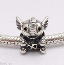 MY SWEET PET ELEPHANT CHARM Bead Sterling Silver .925 4 European Bracelets 957