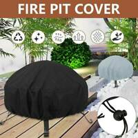 Small Round BBQ Grill Fire Pit Cover Waterproof Dustproof Outdoor Patio Garden
