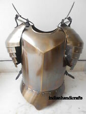 MEDIEVAL SUIT OF ARMOR BREAST PLATE & SHOULDER  HALLOWEEN COSTUME FREE SHIP C87M