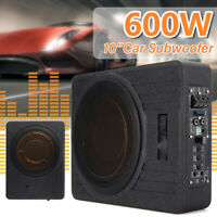 "MECO 10"" Inch Car Subwoofer Sub Woofer 600W Amplifier Slim Amp Audio Underseat"