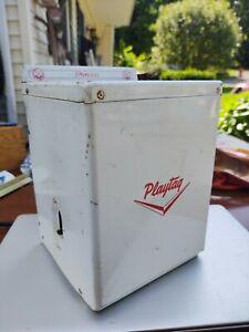 VINTAGE Princess Playtag Toy Washer Battery Engine Motor Washing Machine - NICE!
