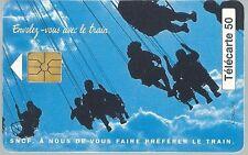 Télécarte carte téléphonique SNCF RER B Châtelet Roissy 27 mn