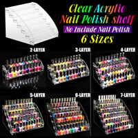 Clear Acrylic Makeup Nail Polish Storage Rack Organizer Jewellery Display Holder